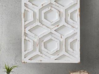 Carson Carrington Voru White Wooden Wall Art  Retail 83 99