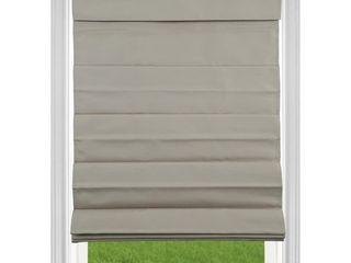 Khaki Room Darkening Cordless Fabric Roman Shade  2 Pack