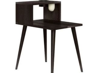 Carson Carrington Shorewood 2 Piece Mid Century Modern Rectangular Wood End Table