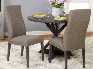 Simple Grey living Glen Trestle Set Of 2 Dining Chairs