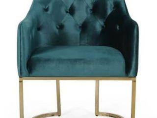 McDonough Modern Teal Tufted Glam Accent Chair