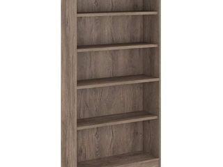 Universal 5 Shelf Bookcase 71 65  Rustic Gray   Bush Furniture