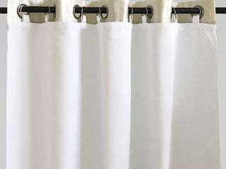 DriftAway Thermal Insulated 100  Darkening  Blackout Curtain liner 96 inch Set of 2  White