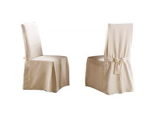 Sure Fit Cotton Classic Dining Chair Slipcover Set Of 2