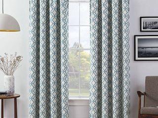 lollie Blackout Window Curtain Panel Pair Blue   Eclipse