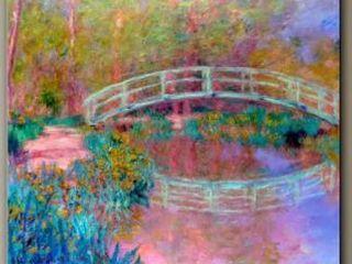 Artwall Claude Monet Japanese Bridge Wall Art  8  x 10