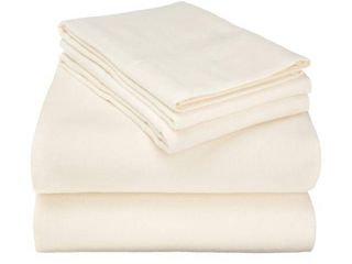 Extra Soft All Season 100  Cotton Flannel  4 Piece Sheet Set by Impressions   Queen