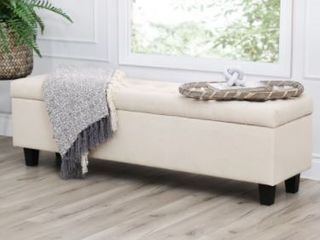 Copper Grove limetree Tufted Storage Ottoman  Ivory