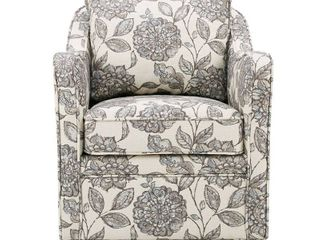 Madison Park Betty Slub Weave Wide Seat Swivel Arm Chair  Retail 349 49