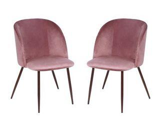EdgeMod Kantwell Velvet Dining Chair  Set of 2  Retail 178 49