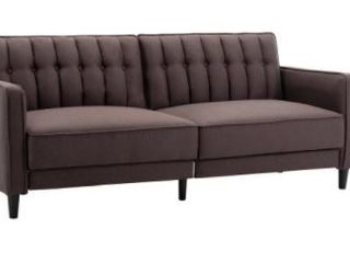 Noah Modern Button  tufted Sofa Bed Chocolate  Retail  484 40