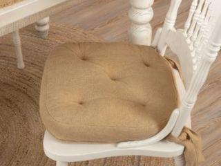 Burlap Natural Chair Pad  Set of 4