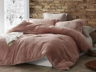 Coma Inducer Plush Twin Xl Oversized Comforter  Sepia Rose  Retail 97 99