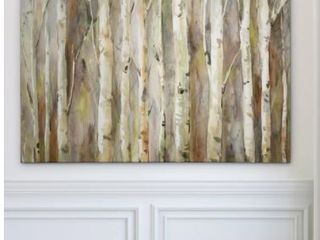 Birch Path Gallery Wrapped Canvas 24  x 40