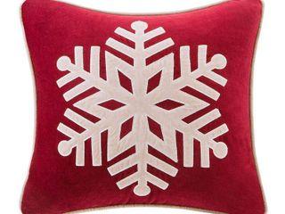 Oversized Velvet Snowflake Throw Pillow 20  x 20
