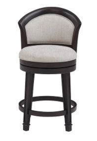 Hillsdale Furniture  Monae Swivel Bar Stool  Aged Black and Woven Grey
