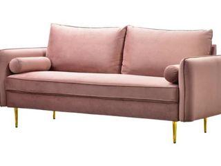 Ovios High Back Couch  Mid Century Velvet Upholstered Sofa