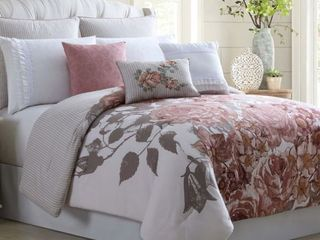 Pacific Coast Textiles 8 Piece Embellished Comforter Set   Fiona