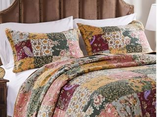 Greenland Home Antique Chic 4 piece Twin Oversized Cotton Quilt Set  Retail 93 49