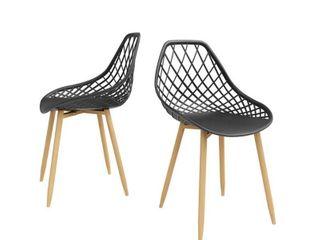 Jamesdar Kurv Dining Chairs Black Natural  Set of 2