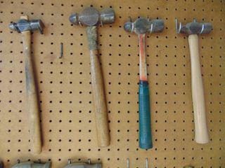 4 Ball Peen Hammers