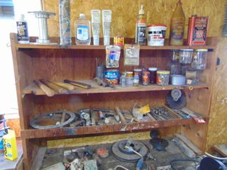 Contents of Workbench Minus Bench Grinder and Vise