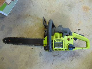 Poulan Chainsaw   Unknown Working Condition   Engine Free
