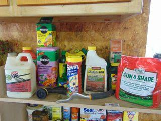 Yard and Garden Supplies   Top Shelf  South Wall
