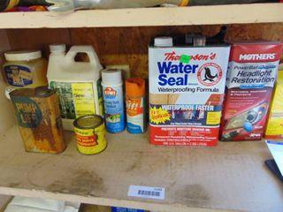 lanp Oil  Thonpsons Waterseal   2nd Shelf South Wall