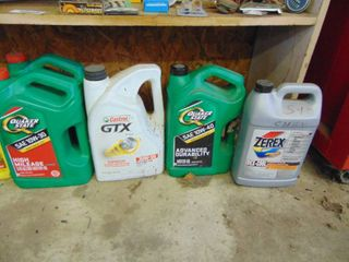 Misc  Oil and Anti Freeze   Most 1 2 full