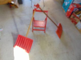 Kids Chair and Shovels