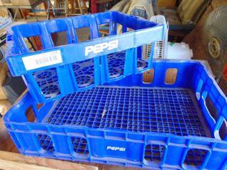 2 Pepsi Plastic Crates