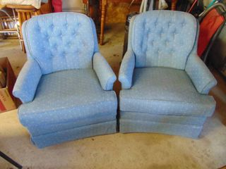 Pair of Blue Rocking Chairs