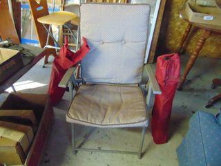 1 Folding Chair  2 Bag Chairs
