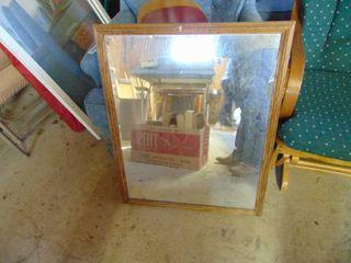 Oak Framed Mirrow