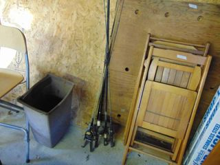 4 Fishing Poles with Reels