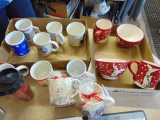 Gibson Christmas Mugs and Bowls   Other Christmas Mugs