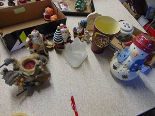 lot of Christmas Decor   Candle Holders