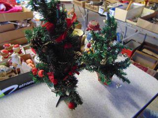 Pair of Small Christmas Trees