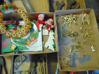 Vintage Santas and Decor