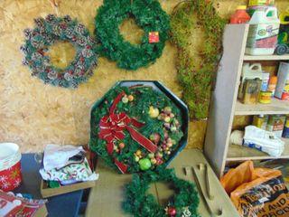 Assortment of Christmas Wreaths