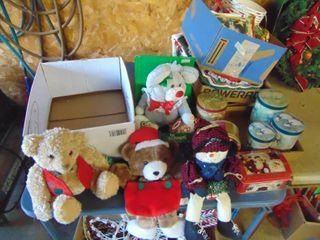 Christmas Animals and Tins