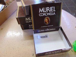 4 Muriel Cigar Boxes