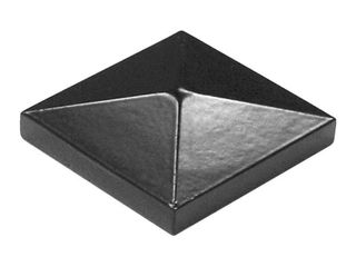 10 FREEDOM Black Aluminum Metal Fence Post Cap