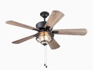 Harbor Breeze Merrimack Ii 52 in Matte Bronze led Indoor outdoor Ceiling Fan   Not Inspected