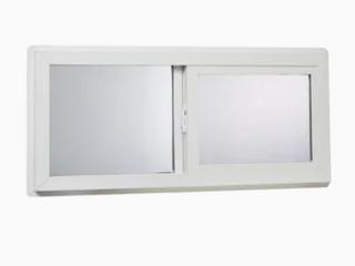Reliabilt 32 x 14 Vinyl Basement Slider Window   Not Inspected   Broken Window