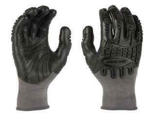 Mad Grip Thunderdome Impact Flex Glove  Grey Black  large
