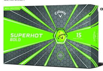 Callaway Superhot Bold 15 Green Golf Balls   Missing 1 Sleeve of 3