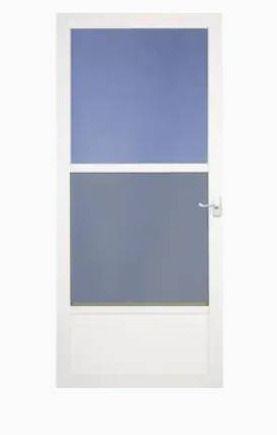 lARSON 36 in x 81 in White Mid View Storm Door