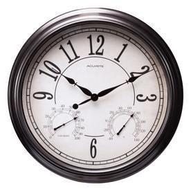 AcuRite Indoor Outdoor Bronze Clock DAMAGED
